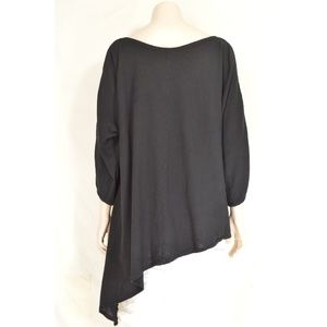 Oh My Gauze Tops - Oh My Gauze top tunic M Magy black cold shoulder 3